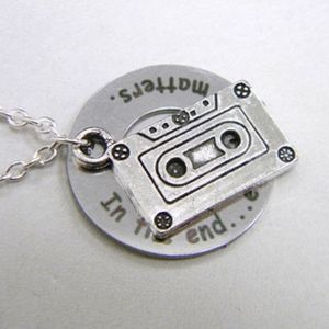 Jewelry - 13RW Silver-Toned Cassette Tape Charm Necklace NWT